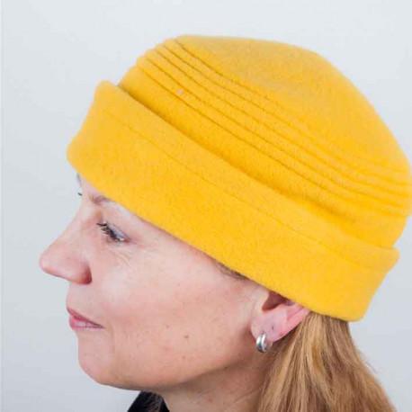cc4764ba87f Žlutá dámská elegantní čepice Tonak 87315