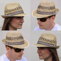 Béžový slaměný klobouk Assante 80026