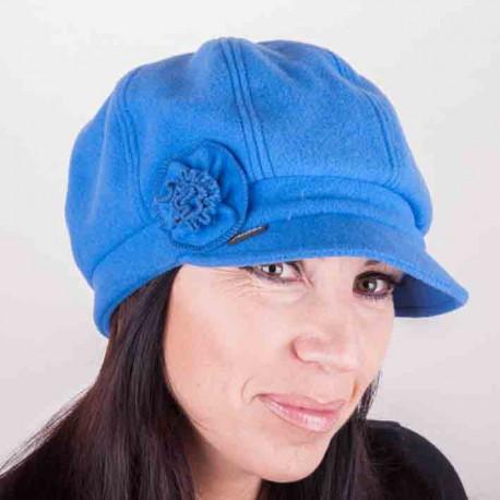 Modrá čepice dámská Mes 87123