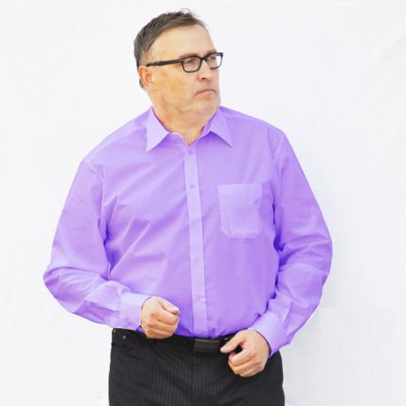 Prodloužená pánská košile regular fialová Assante 20306