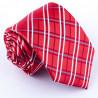 Červená pánská kravata klasická společenská Greg 93006