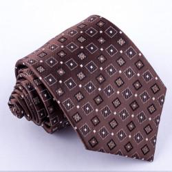 Hnědá pánská kravata Greg 92913