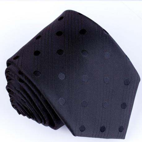 Černá kravata s puntíky Greg 91008