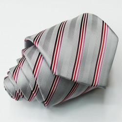 Šedá kravata klasická společenská Greg 91023