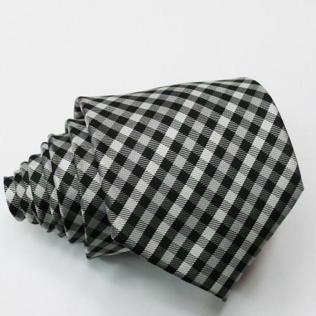 Pánská šedá kravata klasická společenská Greg 91045