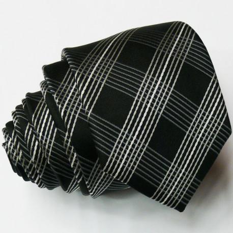 Slim černá kravata Greg 99006