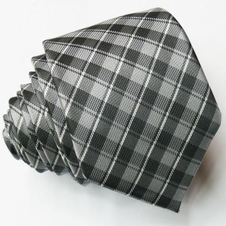 Slim fit šedá kravata Greg 99007