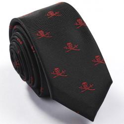 Úzká černá kravata Rene Chagal 99008