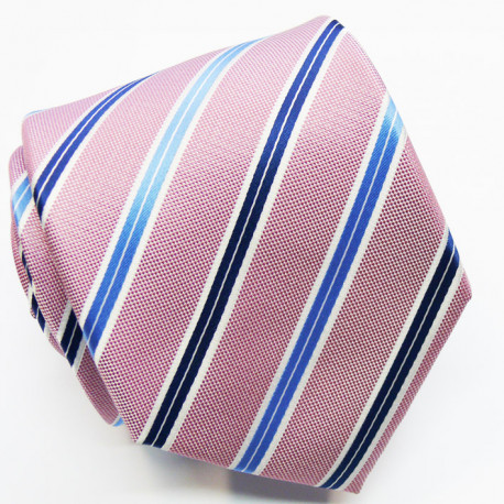 Růžová kravata klasická společenská Greg 96030