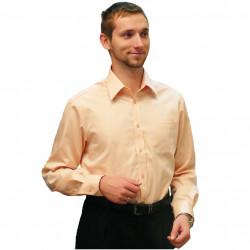 Oranžová pánská košile s dlouhým rukávem slim fit Assante 30212