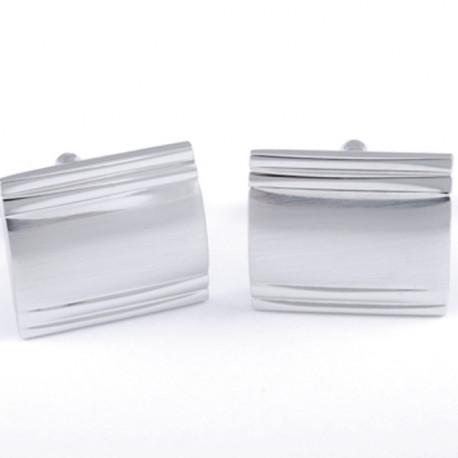 Manžetové knoflíčky stříbrné barvy Assante 90589