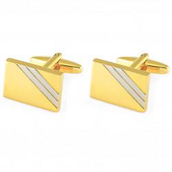 Manžetové knoflíčky zlaté barvy Assante 90588