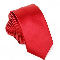 Červená slim fit kravata Greg 99136