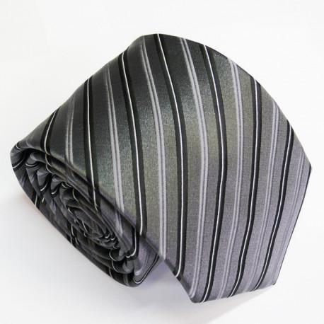 Šedá pánská kravata Greg 91112
