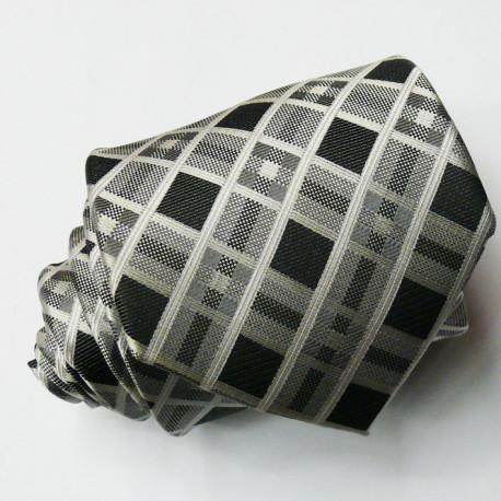 Pánská šedá kravata Rene Chagal 91105