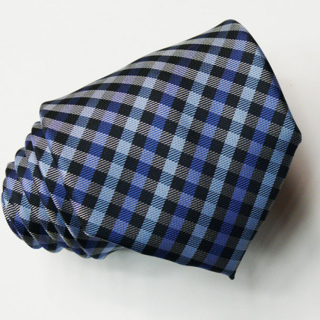 Pánská modrá kravata károvaná Greg 94104