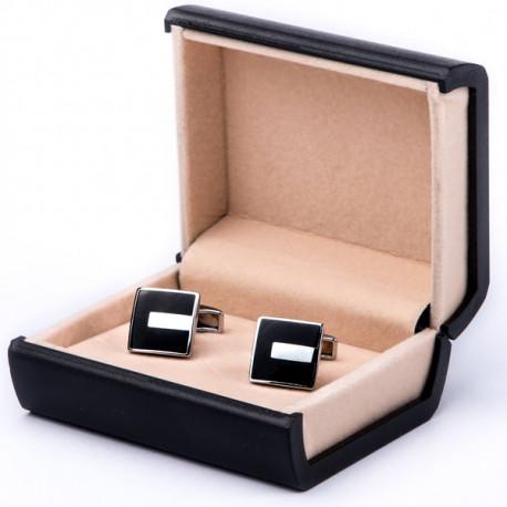 Černé manžetové knoflíčky Assante 90508