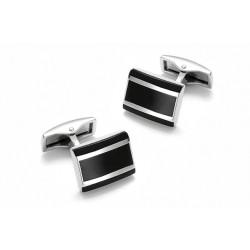 Manžetové knoflíčky stříbrné barvy Assante 90507