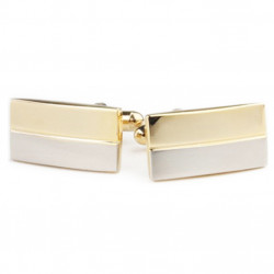 Manžetové knoflíčky stříbrnozlaté barvy Assante 90536