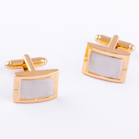 Manžetové knoflíčky zlato stříbrné barvy Assante 90547