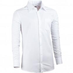 Prodloužená košile slim fit bílá Assante 20010