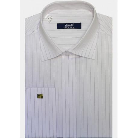 Bílá pánská košile s dlouhým rukávem rovná Assante 30034