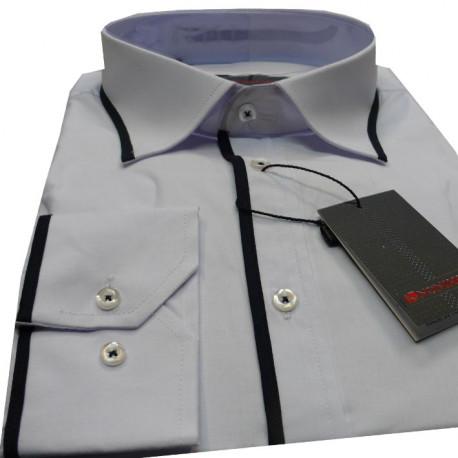 Bílá pánská košile s dlouhým rukávem slim fit Anonimos 30035