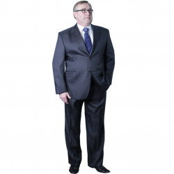 Pánský šedý oblek zkrácený Galant 160600