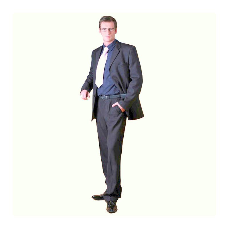 2e356e3aa0 Šedý pánský oblek extra prodloužený na výšku 188 - 194 cm Galant 160603