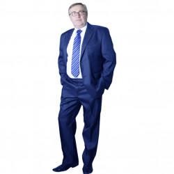 Modrý pánský oblek extra prodloužený Galant 160607