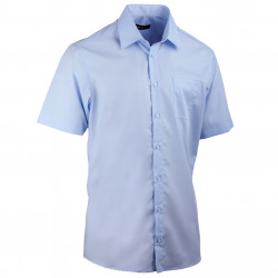 Nadměrná košile modrá 100 % bavlna non iron Assante 41078
