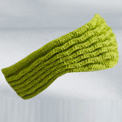 Zelená pletená čelenka zimní Pletex 88231
