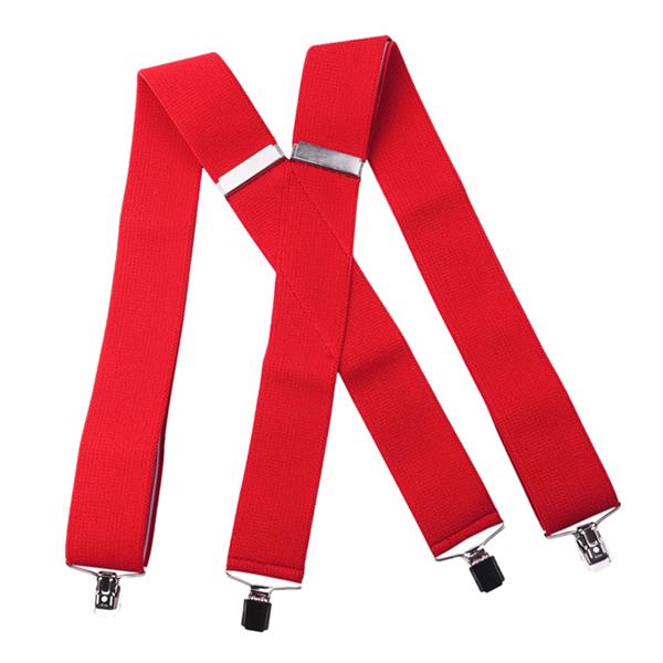 široké červené kšandy