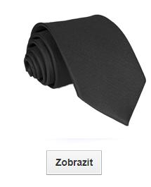 černé kravaty jednobarevné