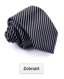 černé kravaty proužkované