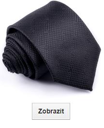 černé kravaty vzorované