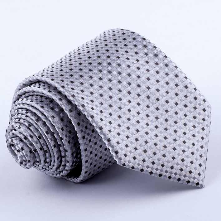 šedá kravata puntíkovaná