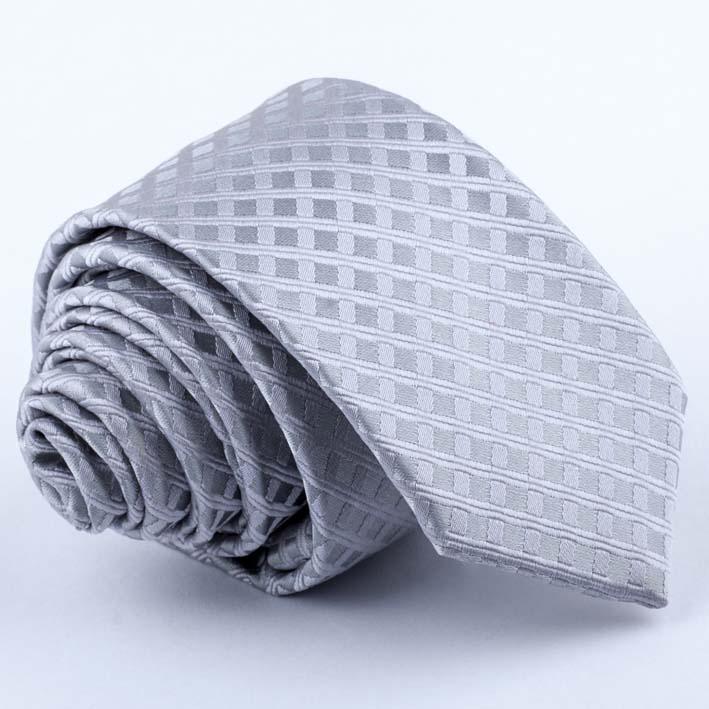 šedá kravata vzorovaná