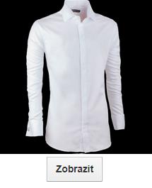 Bílé košile prodloužené