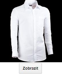 Bílé košile regular (rovné)