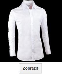 Bílé košile slim fit (vypasované)