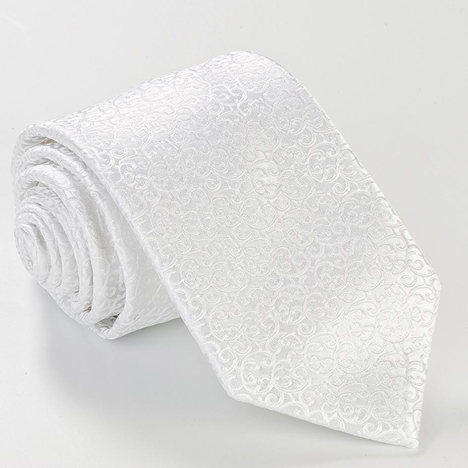 bílá kravata luxusní