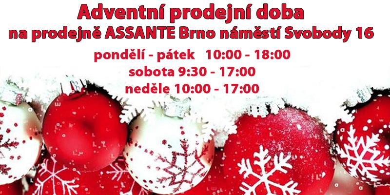 Assante prodejní doba Advent