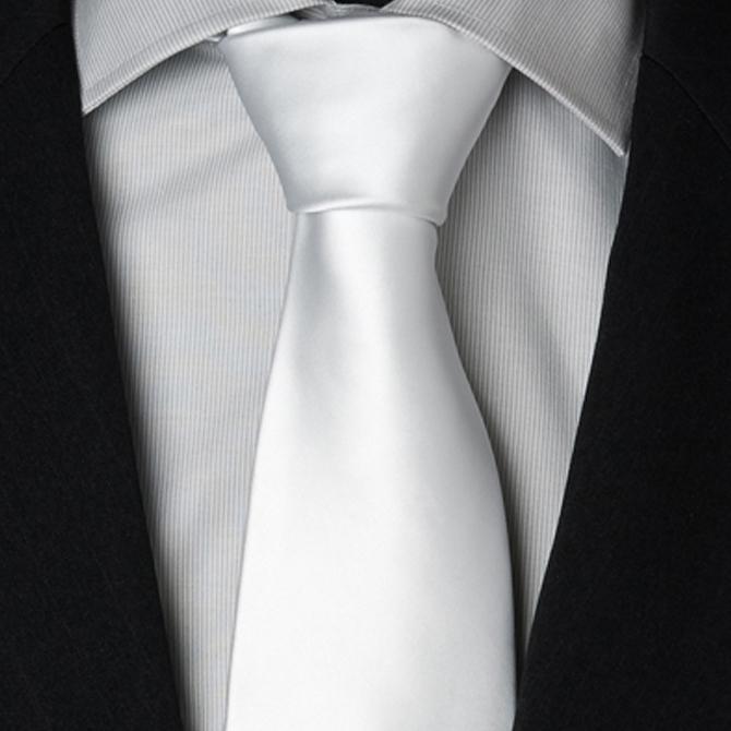 Svatební kravaty bílé