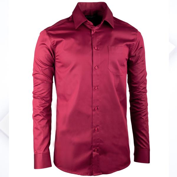 Nadměrná pánská košile bordó Vínová nadměrná košile d67cb89142