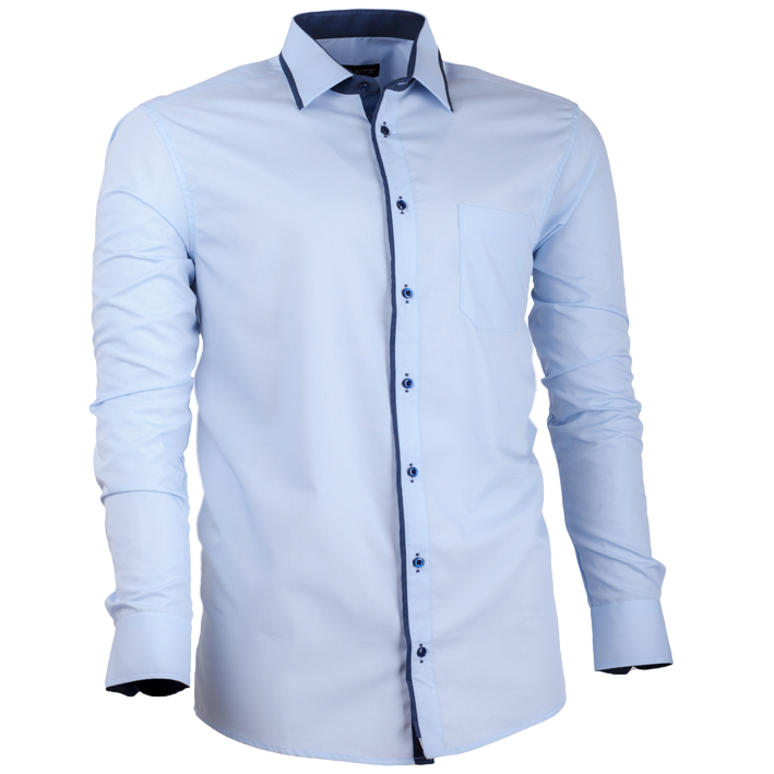548aacb5b43 Nadměrná pánská košile modrá ...