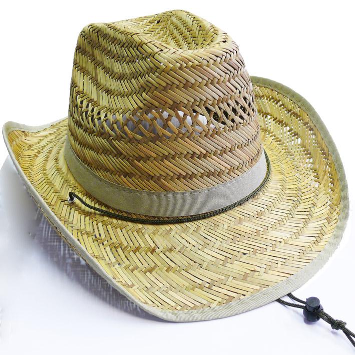 slaměný westernový klobouk