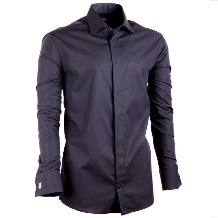 černá košile na manžetový knoflíček