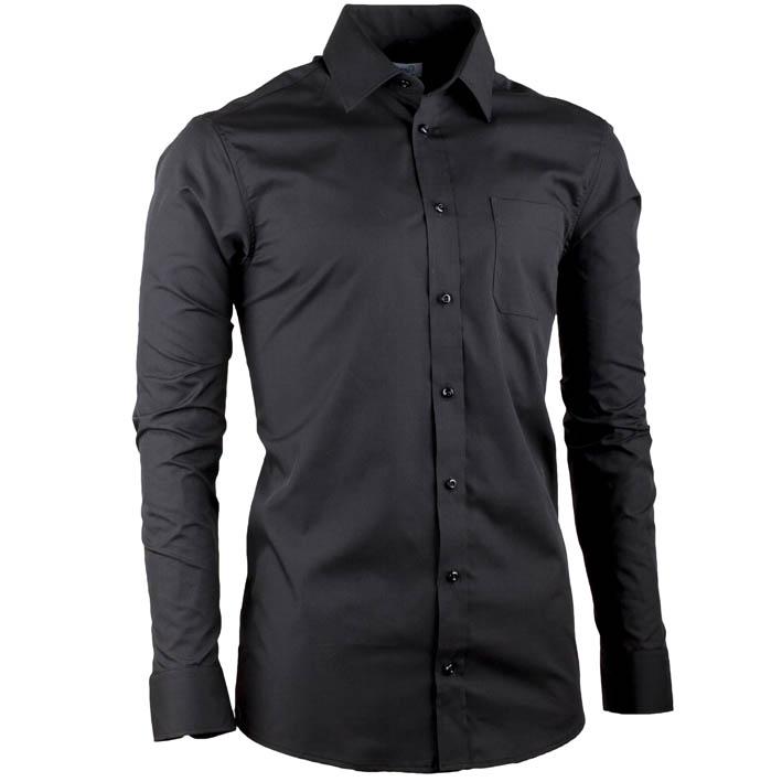 černá košile slim
