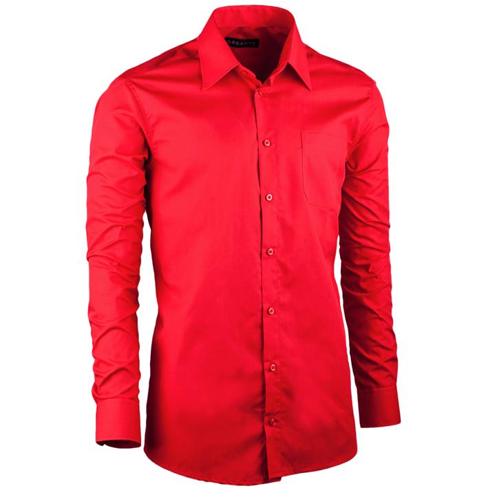 červená košile slim